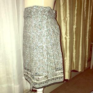 Fashion Fuse imported neutrals wrap skirt